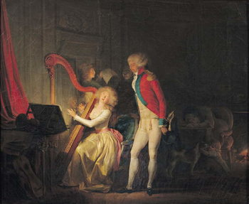 The Improvised Concert, or The Price of Harmony, 1790 Canvas Print