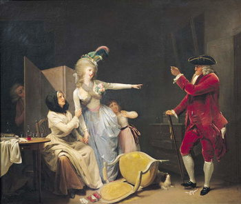 The Jealous Old Man, 1791 Canvas Print