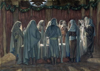 The Jew's Passover, illustration for 'The Life of Christ', c.1884-96 Canvas Print