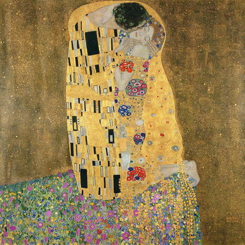 The Kiss, 1907-08 Canvas Print