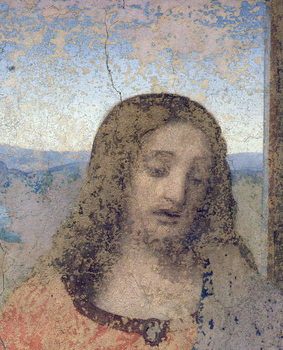 The Last Supper, 1495-97 (fresco) (post restoration) Canvas Print