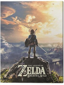 Canvas Print The Legend of Zelda: Breath of The Wild - Sunset