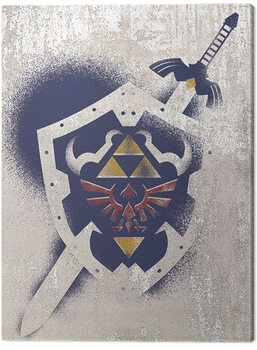 The Legend Of Zelda - Hylian Shield Stencil Canvas Print