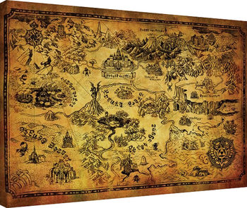 The Legend Of Zelda - Hyrule Map Canvas Print