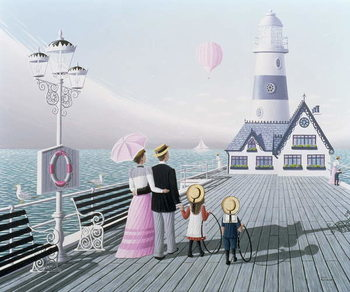 The Lighthouse, 1996 Canvas Print
