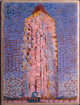 The lighthouse of Westkapelle, Veere, Zelande (Lighthouse of Westkapelle, Netherlands) Painting by Piet Mondrian , 1909-1910 Dim 39x29 cm Milan museo del novecento Canvas Print
