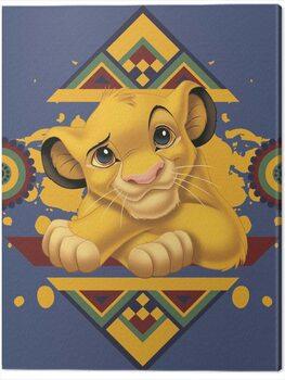 Canvas Print The Lion King - Simba Tribal Pattern