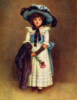 'The little model'  by Kate Greenaway. Canvas Print