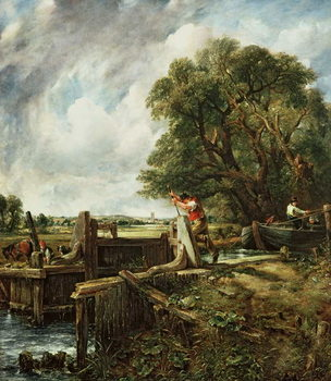 The Lock, 1824 Canvas Print