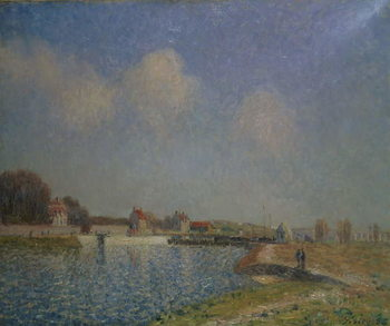 The Loing at Saint-Mammes, 1885 Canvas Print