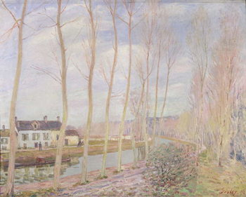 The Loing Canal, 1892 Canvas Print