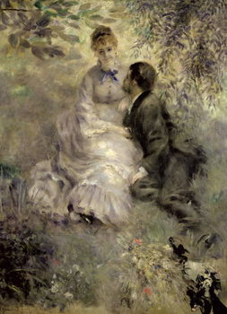 The Lovers, c.1875 Canvas Print