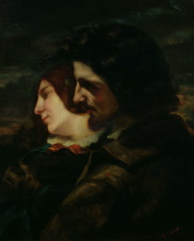 The Lovers in the Countryside, after 1844 Canvas Print