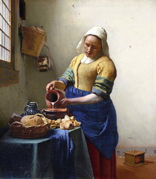 The Milkmaid, c.1658-60 Canvas Print