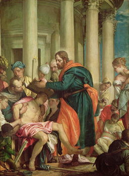 The Miracle of St. Barnabas, c.1566 Canvas Print