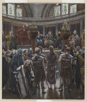 The Morning Judgement, illustration from 'The Life of Our Lord Jesus Christ', 1886-94 Canvas Print