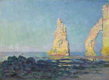 Canvas Print The Needle of Etretat, Low Tide; Aiguille d'Etretat, maree basse