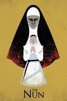 Canvas Print The Nun - Evil behind