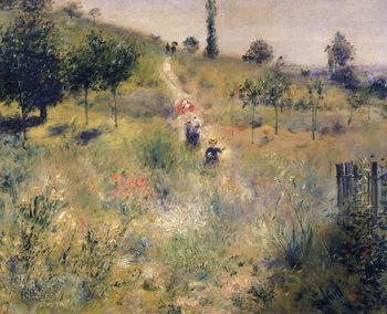 The Path through the Long Grass, c.1875 Canvas Print