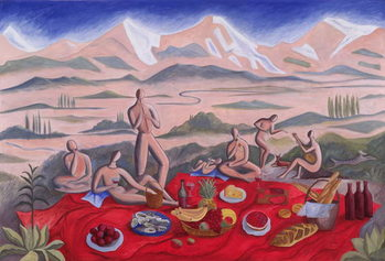 The Picnic, 1992 Canvas Print