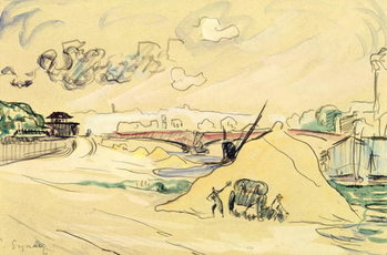 The Pile of Sand, Bercy, 1905 Canvas Print