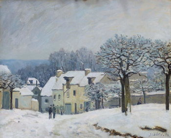 The Place du Chenil at Marly-le-Roi, Snow, 1876 Canvas Print