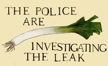The police are investigating the leak Canvas Print