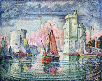 The Port at La Rochelle, 1921 Canvas Print