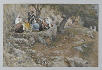 The Primacy of Saint Peter, illustration from 'The Life of Our Lord Jesus Christ', 1886-96 Canvas Print