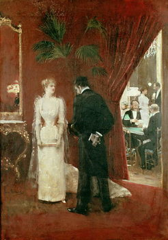 The Private Conversation, 1904 Canvas Print