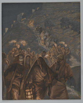 The Procession of Judas, illustration from 'The Life of Our Lord Jesus Christ', 1886-94 Canvas Print