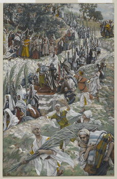 The Procession on the Mount of Olives, illustration from 'The Life of Our Lord Jesus Christ', 1886-94 Canvas Print