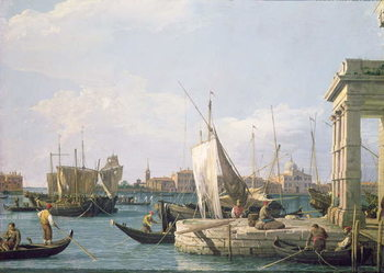 The Punta della Dogana, 1730 Canvas Print