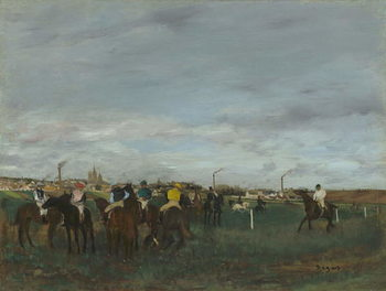 The Races, 1871-2 Canvas Print