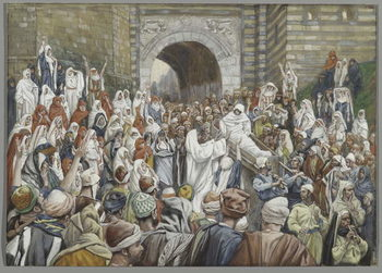 The Resurrection of the Widow's Son at Nain, illustration from 'The Life of Our Lord Jesus Christ' Canvas Print