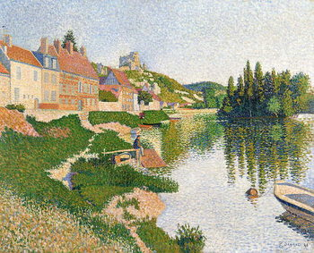 The River Bank, Petit-Andely, 1886 Canvas Print