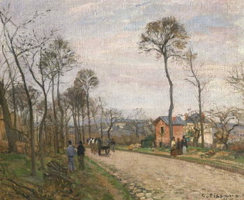 The Road from Louveciennes, 1870 Canvas Print