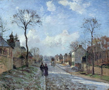 The Road to Louveciennes, 1872 Canvas Print