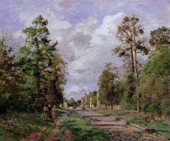 The road to Louveciennes at the edge of the wood, 1871 Canvas Print