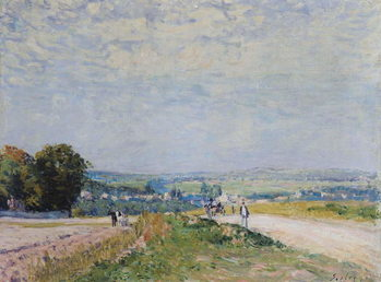 The Road to Montbuisson at Louveciennes, 1875 Canvas Print