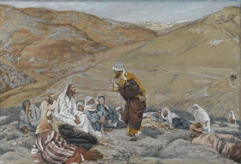 The Scribe Stood to Tempt Jesus, illustration from 'The Life of Our Lord Jesus Christ', 1886-94 Canvas Print