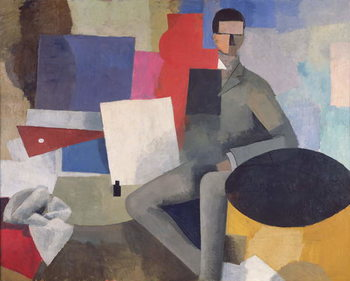 The Seated Man, or The Architect Canvas Print