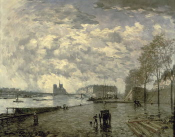 The Seine and Notre Dame Canvas Print