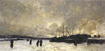 The Seine in December, 1879 Canvas Print