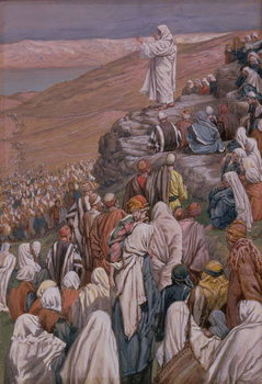 The Sermon on the Mount, illustration for 'The Life of Christ', c.1886-96 Canvas Print