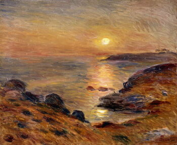 Canvas Print The Setting of the Sun at Douarnenez; Couche de Soleil a Douarnenez, 1883