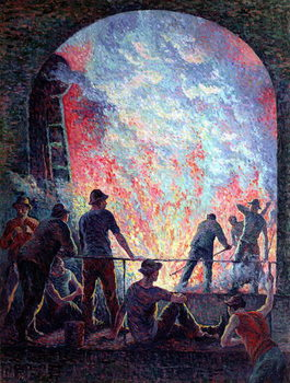 The Steel Works, 1895 Canvas Print