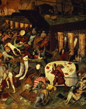 The Triumph of Death, detail of the lower right section, 1562 Canvas Print