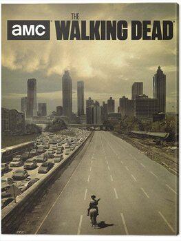 Canvas Print The Walking Dead - Road