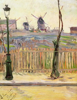 The Windmills at Montmartre, 1884 Canvas Print